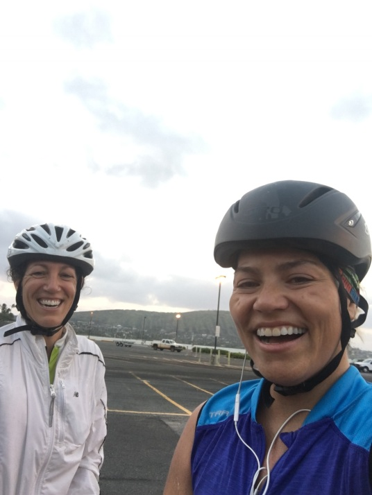 My training bud Xtina - cycling strolls and smiles